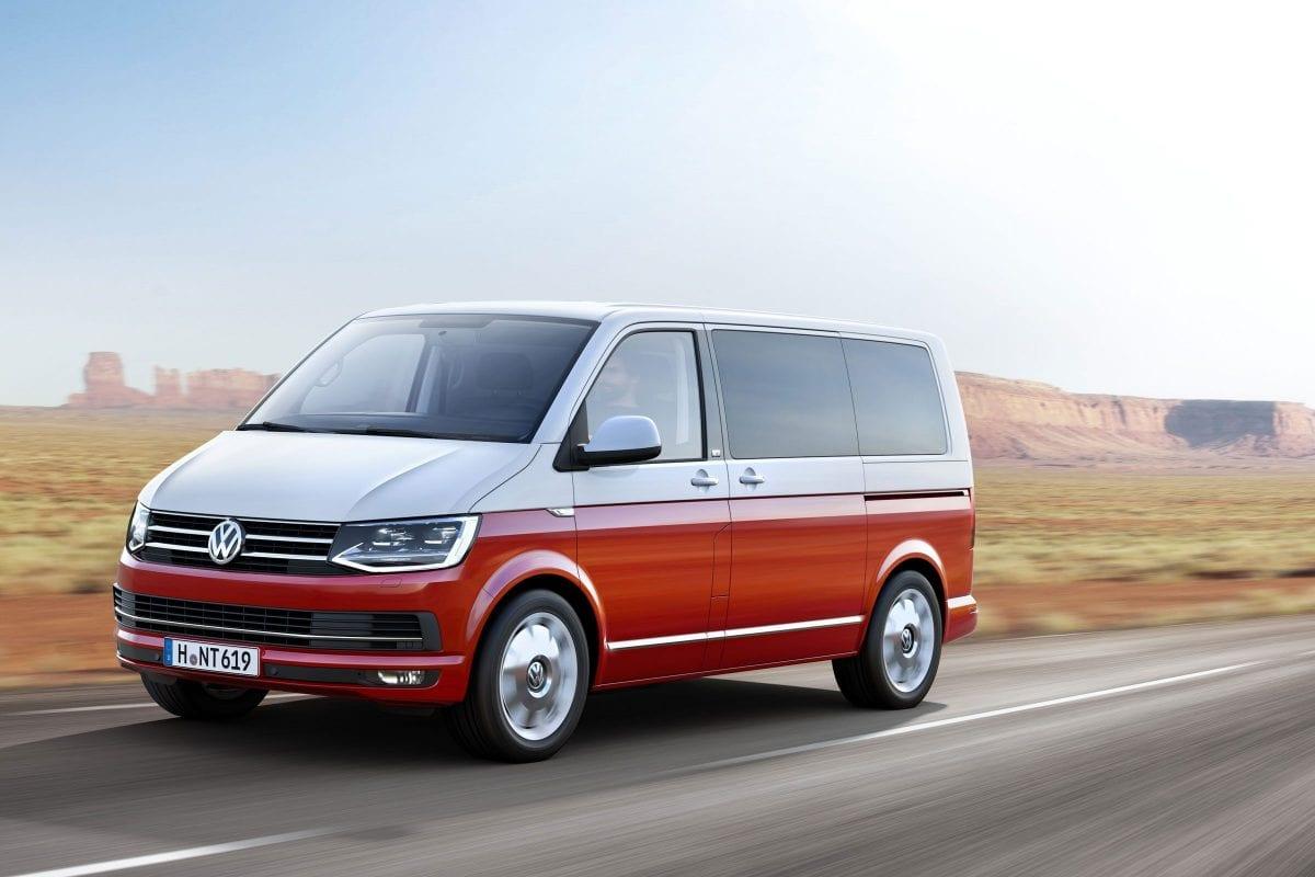 Red VW Transporter T6 Camper Van