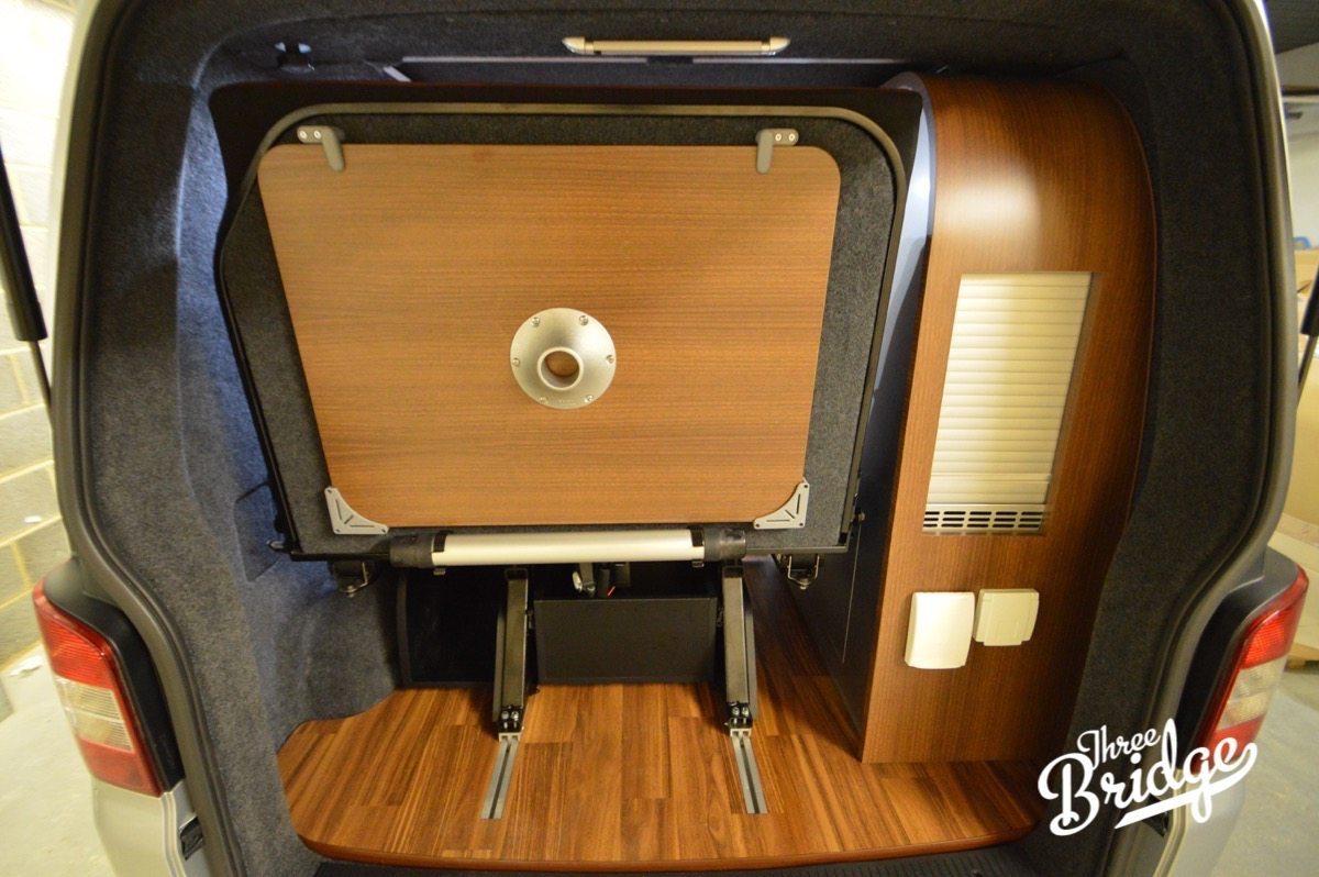 VW Transporter T5 T6 Camper Conversion - Reimo 333 Variotech Bed